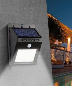 2 X Lampa Solara De Perete Cu Senzor Miscare 30 Led 1 1 Gratis Vanatoarea S A Incheiat Top Redus